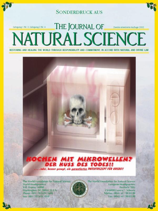 Titelblatt der Publikation : Kochen mit Mikrowellen? Der Kuss des Todes!!