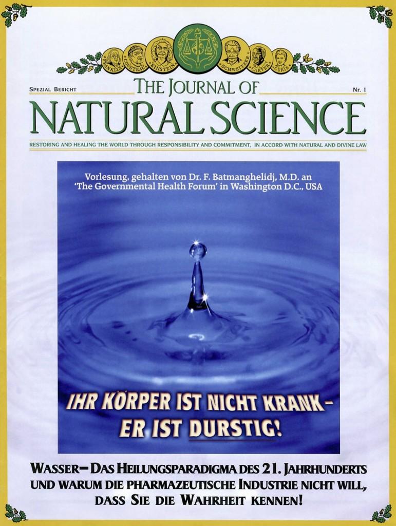 Titelblatt der Publikation : Ihr Körper ist nicht krank – er ist durstig!
