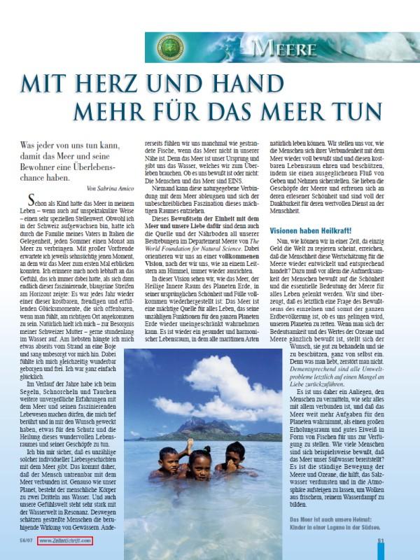 Titelblatt der Publikation : Mit Herz und Hand mehr für das Meer tun