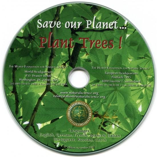 Titelblatt der Publikation : Rettet den Planeten… Pflanzt Bäume!