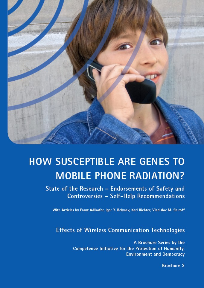 Cover of publication : How susceptible are genes to mobile phone radiation?