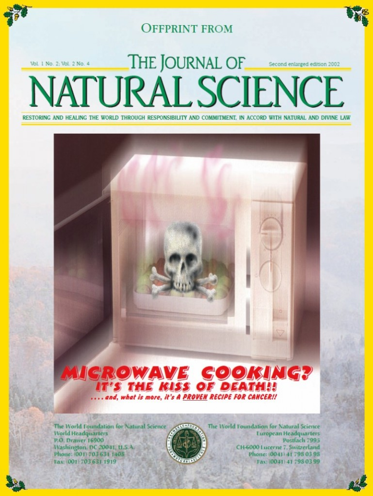Cover of publication : Microwave cooking? It's the kiss of death!!