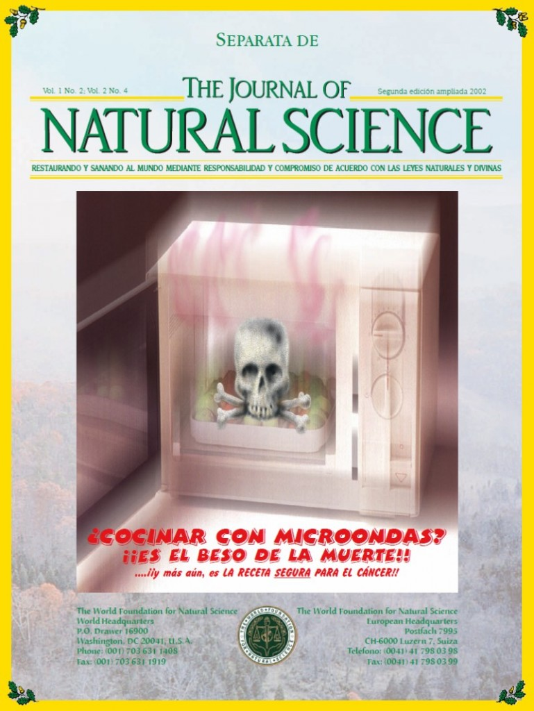 Portada de la publicación: ¿Cocinar con microondas?¡¡Es el beso de la muerte!!