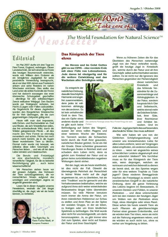 Titelblatt der Publikation : Das Königreich der Tiere ehren
