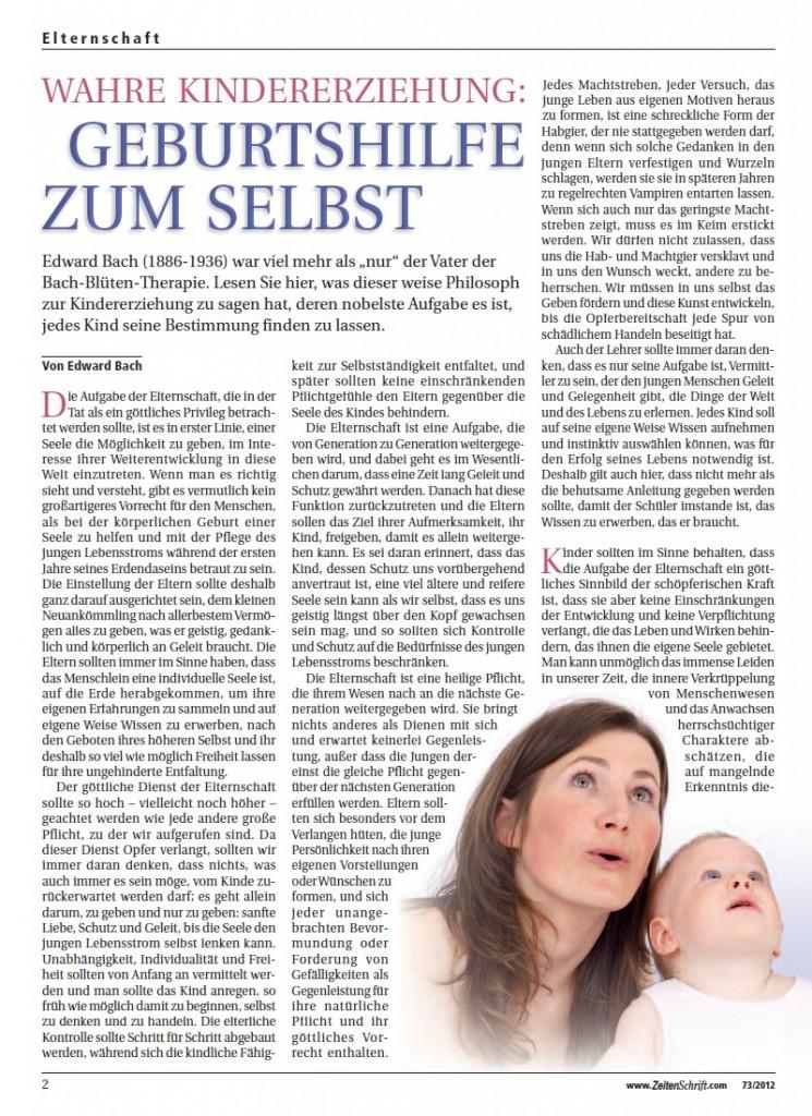 Titelblatt der Publikation : Wahre Kindererziehung: Geburtshilfe zum Selbst
