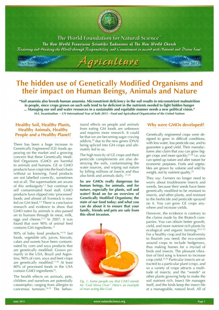 the significant effect of genetically modified organism gmos on agriculture in our modern world Effects of genetically modified crops of genetically modified crops in recent years, the world has genetically modified organisms are our.