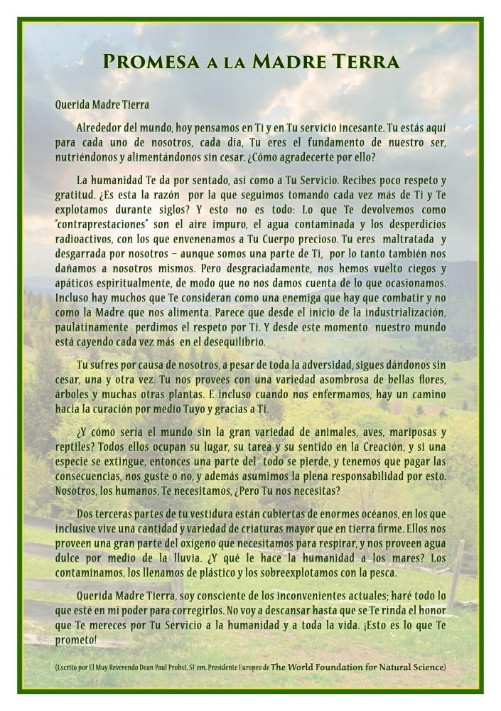 Portada de la publicación: Promesa a la Madre Tierra