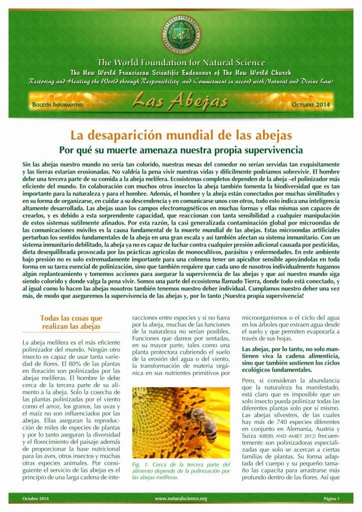 Portada de la publicación: La desaparición mundial de las abejas