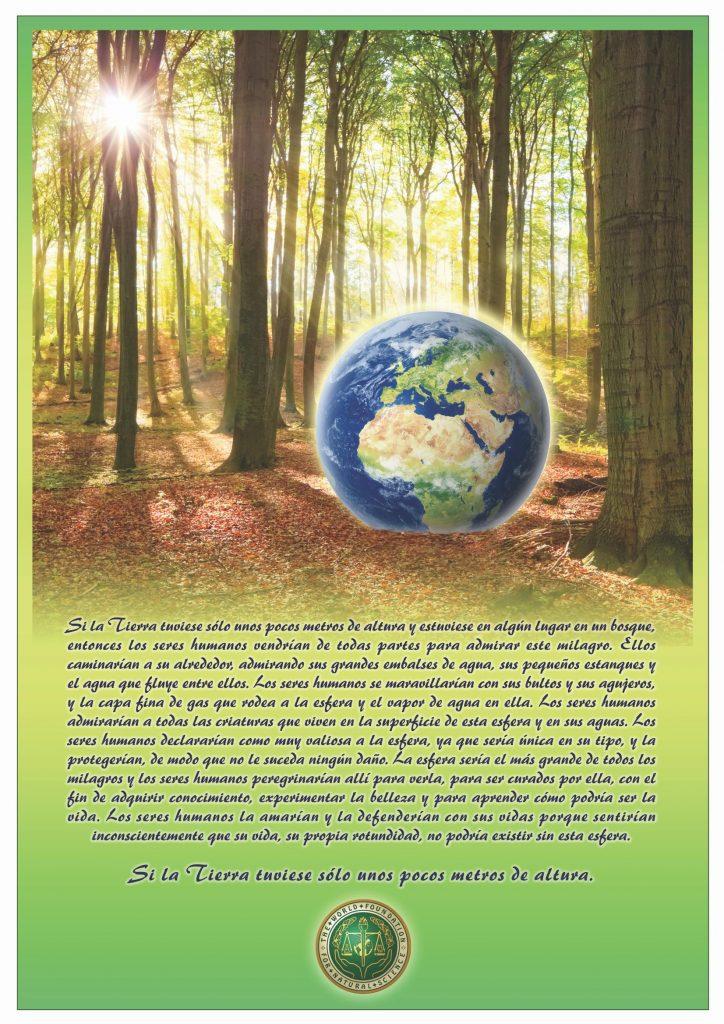 Portada de la publicación: Si la Tierra tuviese sólo unos pocos metros de altura