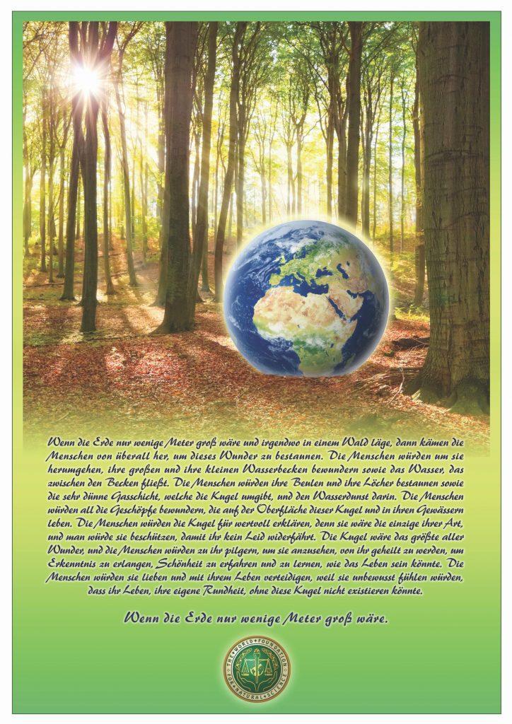 Titelblatt der Publikation : Wenn die Erde nur wenige Meter gross wäre