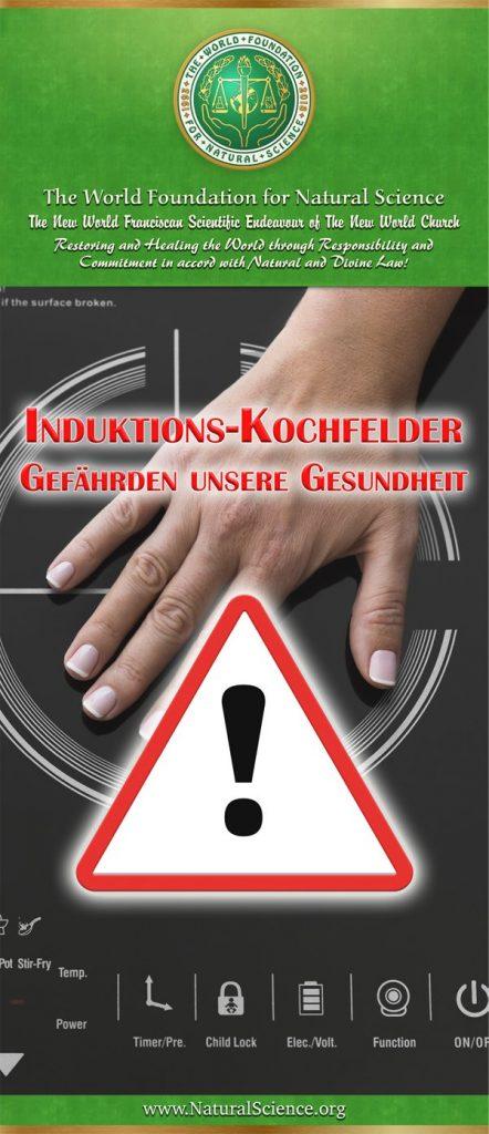 Titelblatt der Publikation : Induktions-Kochfelder gefährden unsere Gesundheit