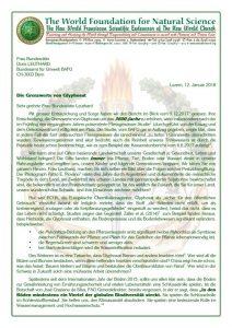 Schweiz 3600 Fache Erhöhung Des Glyphosat Grenzwertes In Gewässern