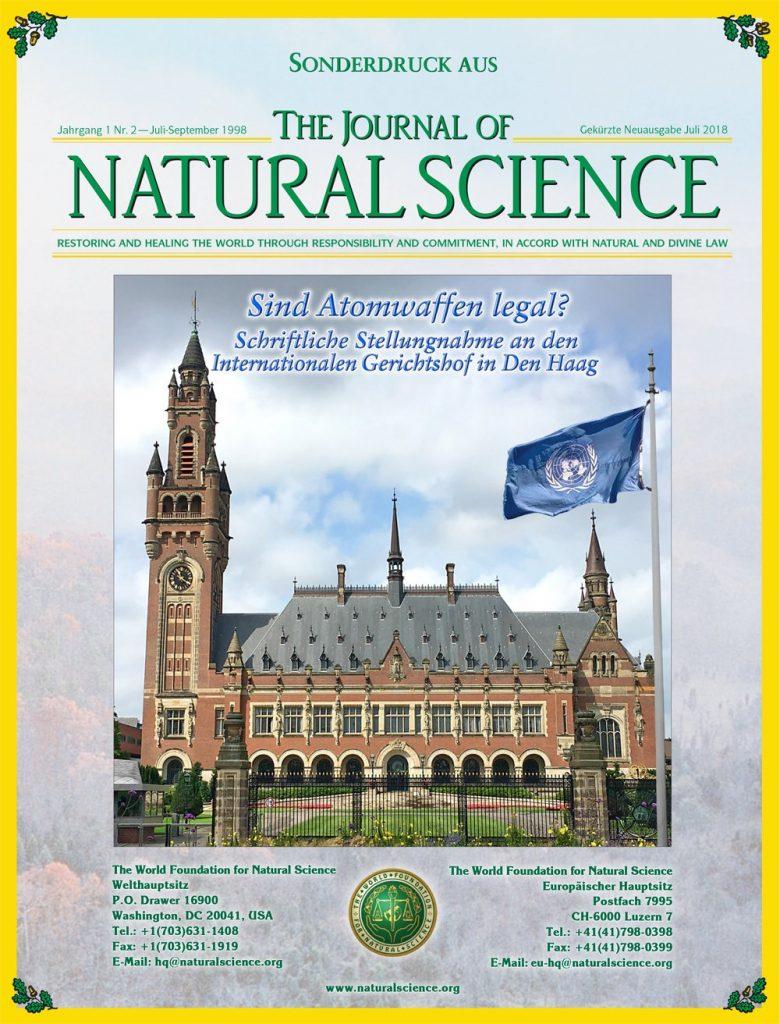 Titelblatt der Publikation : Sind Atomwaffen legal? – Schriftliche Stellungnahme an den Internationalen Gerichtshof in Den Haag