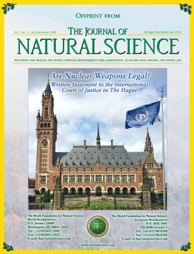 Cover of publication : Are Nuclear Weapons Legal? – Written Statement to the International Court of Justice in The Hague