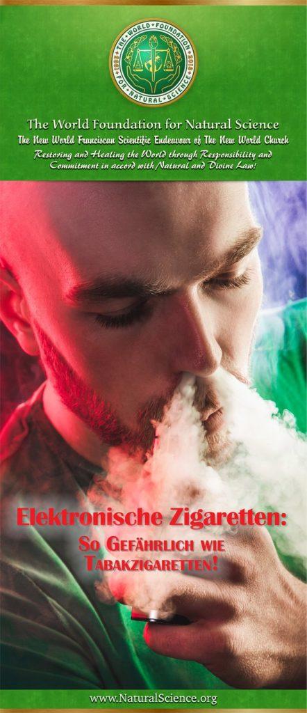 Titelblatt der Publikation : Elektronische Zigaretten: So Gefährlich wie Tabakzigaretten!