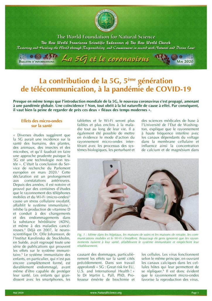 Couverture de la publication: La contribution de la 5G, 5ème génération de télécommunication, à la pandémie de COVID-19
