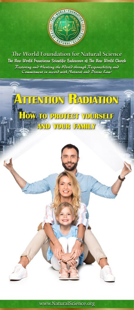 Cover of publication : Attention Radiation – How to protect yourself and your family